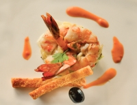 Home Cooking Recipe-Selected Pink Prawns with Waldorf Salad